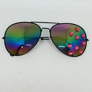 Heart of glass rainbow mirror AVIATORS sample